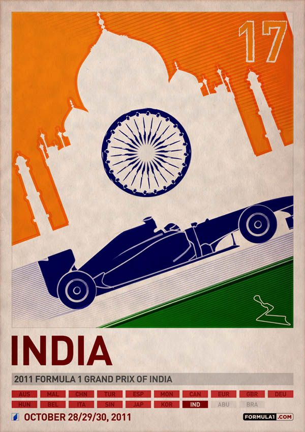 India Grand Prix poster: Poster Series, F1 Poster, Formula 1, Travel Photo, Grand Prize, Travel Tips, Graphics Design, Vintage Design, Formula One