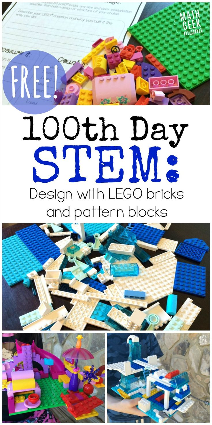 100th Day of School STEM Activities for K-6 {FREE!} http://mathgeekmama.com/100th-day-stem-activities/?utm_campaign=coschedule&utm_source=pinterest&utm_medium=Bethany%20%7C%20Math%20Geek%20Mama&utm_content=100th%20Day%20of%20School%20STEM%20Activities%20for%20K-6%20%7BFREE%21%7D