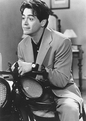 Young Robert Downey Jr. seemed predestined for light romantic comedy roles.  Who would have guessed he'd one day find worldwide fame in two of the movies' great hero roles - Iron Man and Sherlock Holmes?