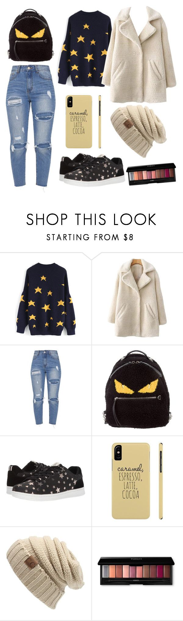 """""""Im Yoona: snow fight"""" by lissavolk ❤ liked on Polyvore featuring Chicwish, Fendi and ED Ellen DeGeneres"""