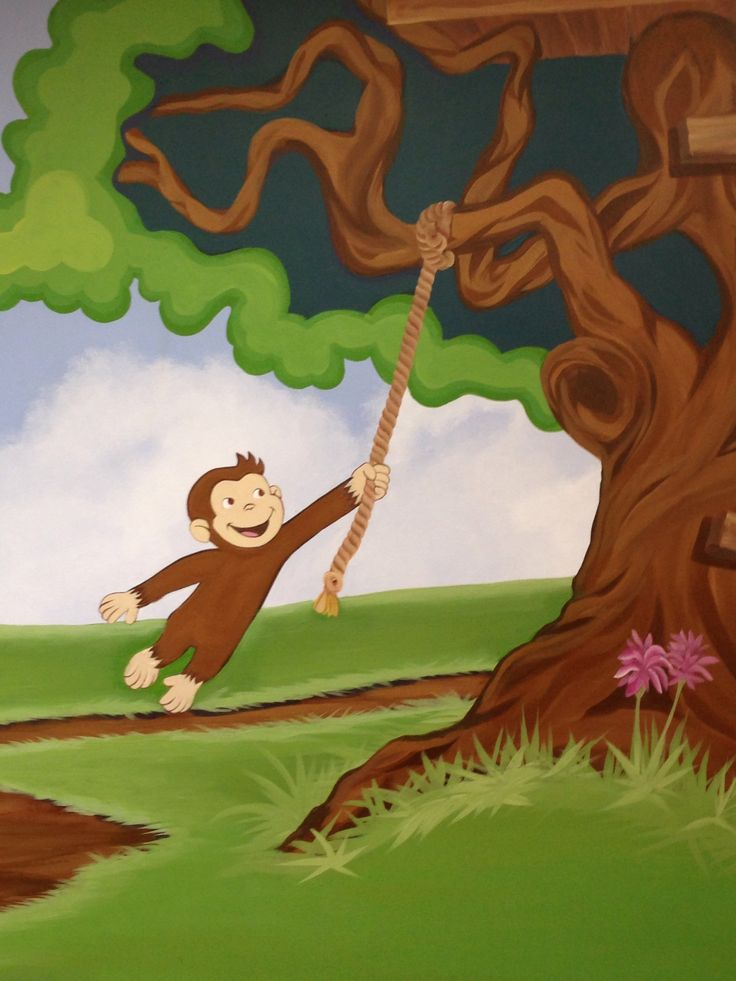 Pin by terry allen on my murals pinterest for Curious george mural