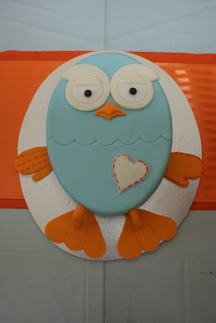 """My son's 1st Birthday """"Giggle and Hoot"""" Cake his Grandma and Great Aunty made on 11.02.12  www.facebook.com/Sunless.Products"""