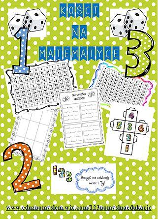 Propozycje gier na mnożenie z wykorzystaniem kości do gier. DARMOWE druki. Multiplication game using dice. FREE prints.