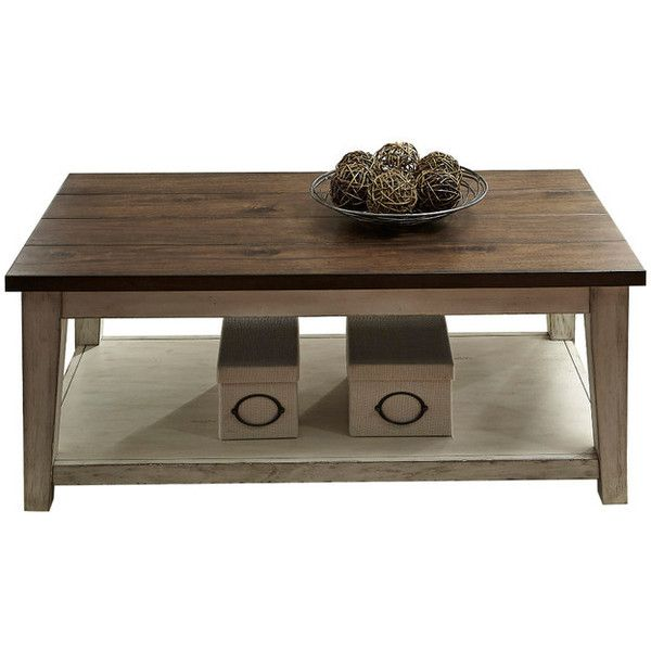 Cocktail Table - Transitional - Coffee Tables - by Liberty Furniture... ❤ liked on Polyvore featuring home, furniture, tables, accent tables, transitional furniture and transitional coffee table