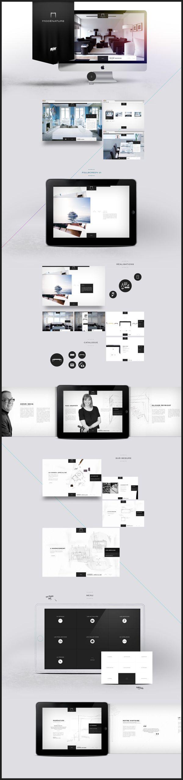 Modénature.com by Antoine Pelgrand Kostadinoff, via #Behance #Webdesign