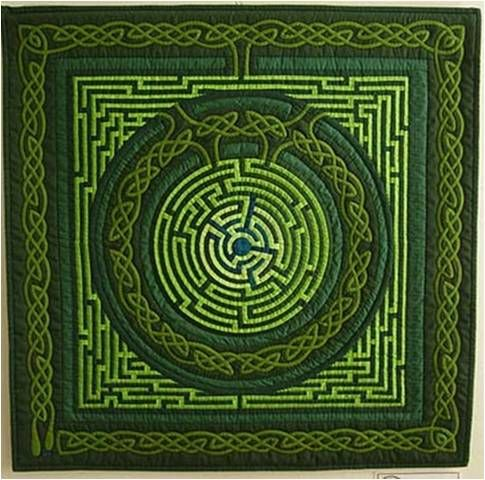 Gyöngyi Váradi's quilts, including the Celtic labyrinth was exhibited during the Hungarian Patchwork Guild's show in Budapest in November 2010.
