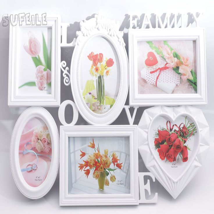 sufeile 6 inch 7 inch white siamese photo frame european style family portrait frame factory wholesale - Wholesale Art And Frames