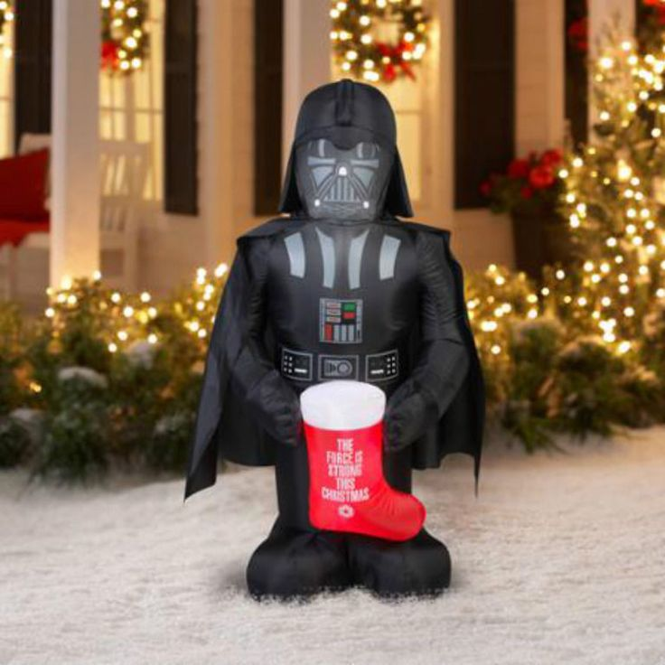 Inflatable Airblown Christmas STAR WARS Yard Decoration 5 Ft Outdoor Decor NEW