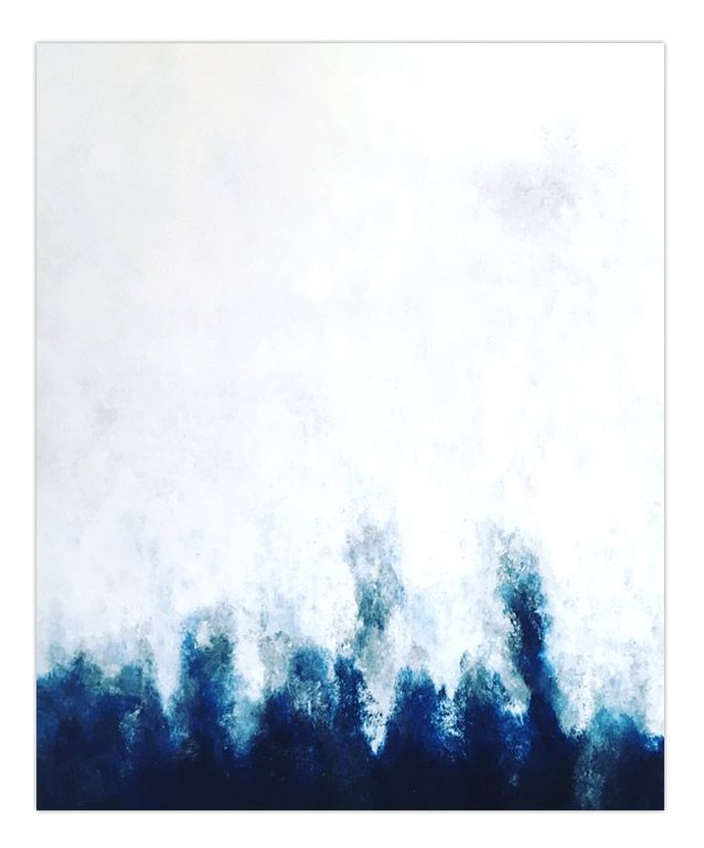 """""""Blue abstract 1604"""" 50x60cm by Stellan Kristiansson"""