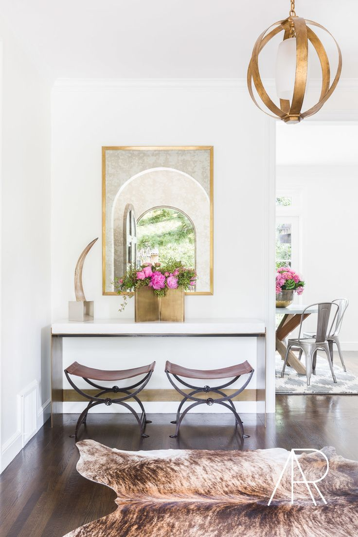 amanda Barnes Interiors Modern Spanish Revival Entry Foyer Mediterranean  Modern Transitional by Amanda Barnes Interiors