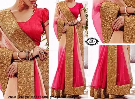 3 Colors Shaded Georgette Bollywood Sarees Sale
