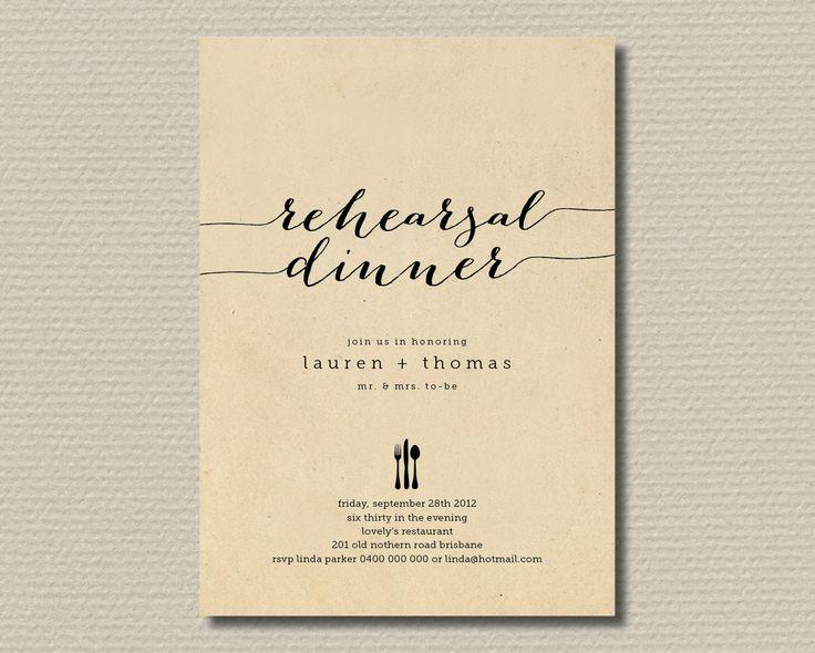 Best 25+ Rehearsal dinner invitations ideas on Pinterest