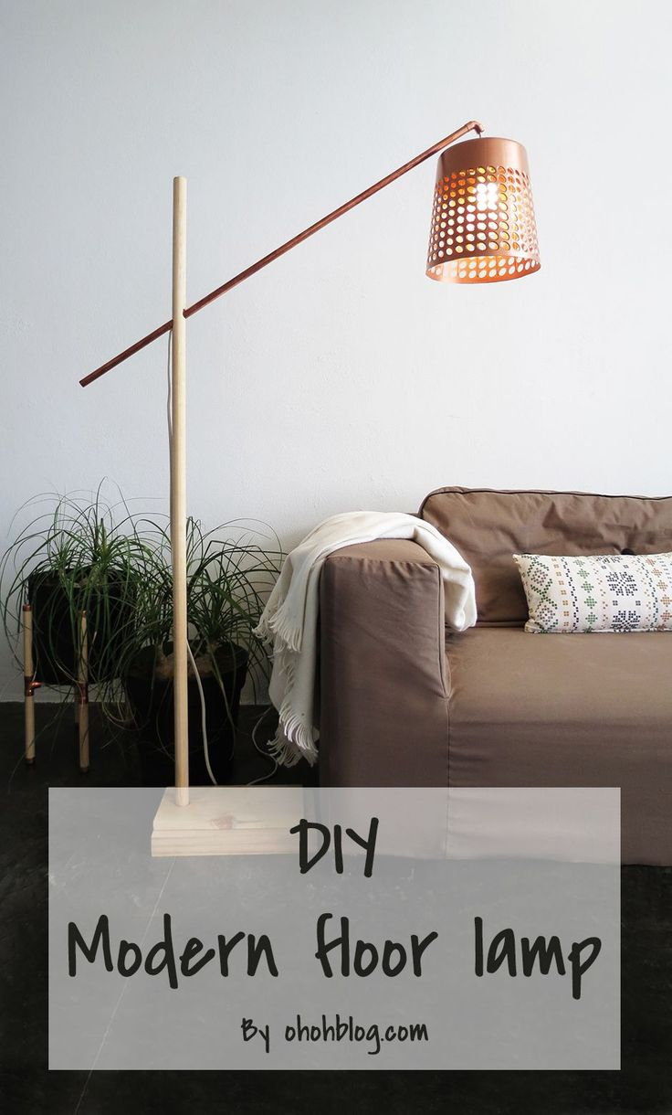 This is one of the coolest project I made lately: a floor lamp. I love making lighting and it was awhile since the cube lamp . This floo...