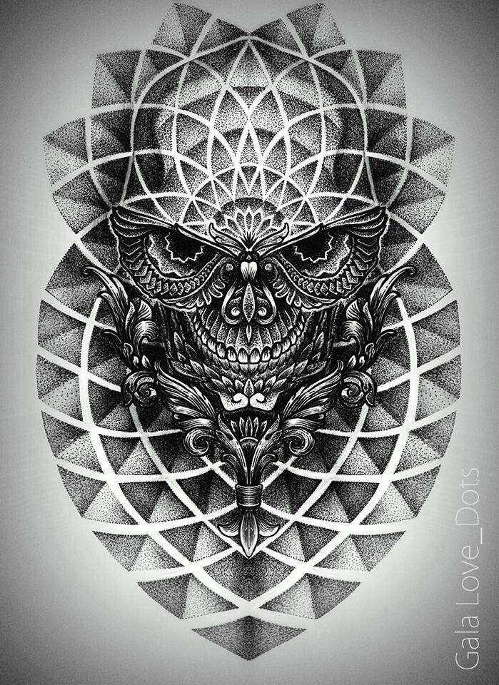 Small Art Tattoo Designs: Gala Love Dots. Tattoo. Ukrainian Artist.