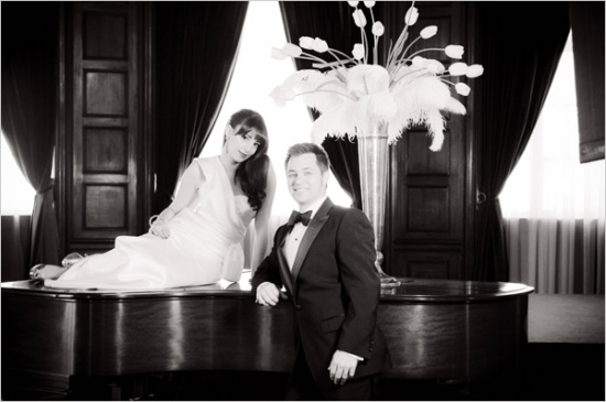Old Hollywood Wedding Ideas. Love the Art Deco feel of this