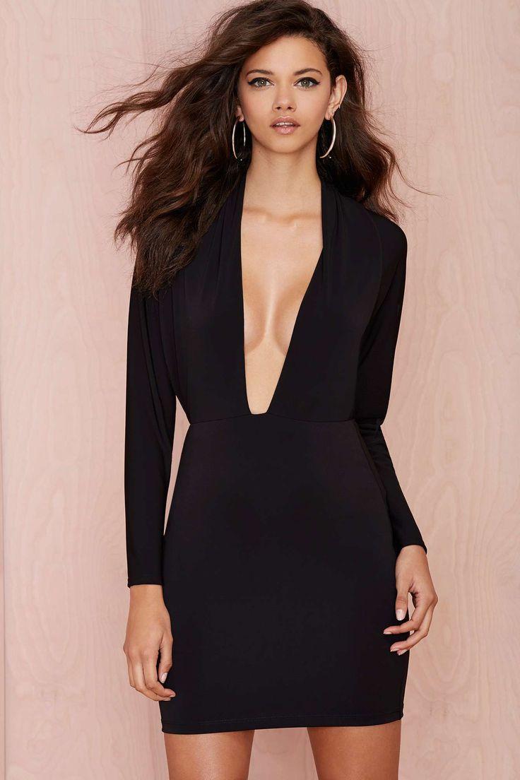 Nasty gal black helix dress material