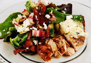 Herbed Balsamic Glazed Chicken and Salad