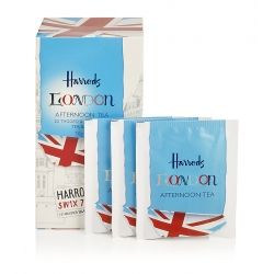 Beautifully presented in a London illustrated box, these Afternoon tea bags from Harrods make an amber brew full of sweet, subtle flavours. Serve in a cup and saucer and add a dash of milk for a truly British experience.