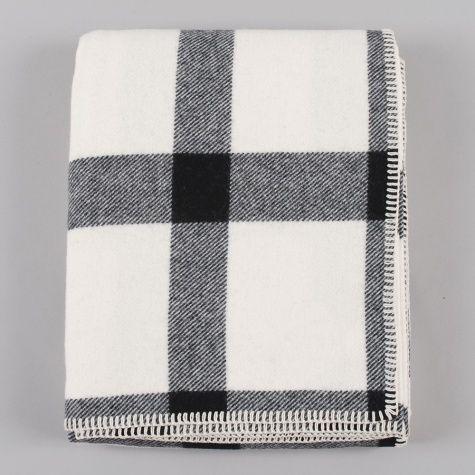 Pendleton Eco-Wise Wool Throw - Ivory/ Black Plaid