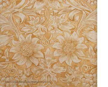 Beställ tyget Sunflower Etc gul/orange/röd från William Morris®