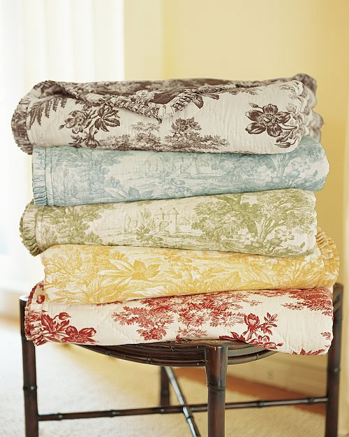 Pottery Barn Toile Bedding Toile Bedding Slipcovers For