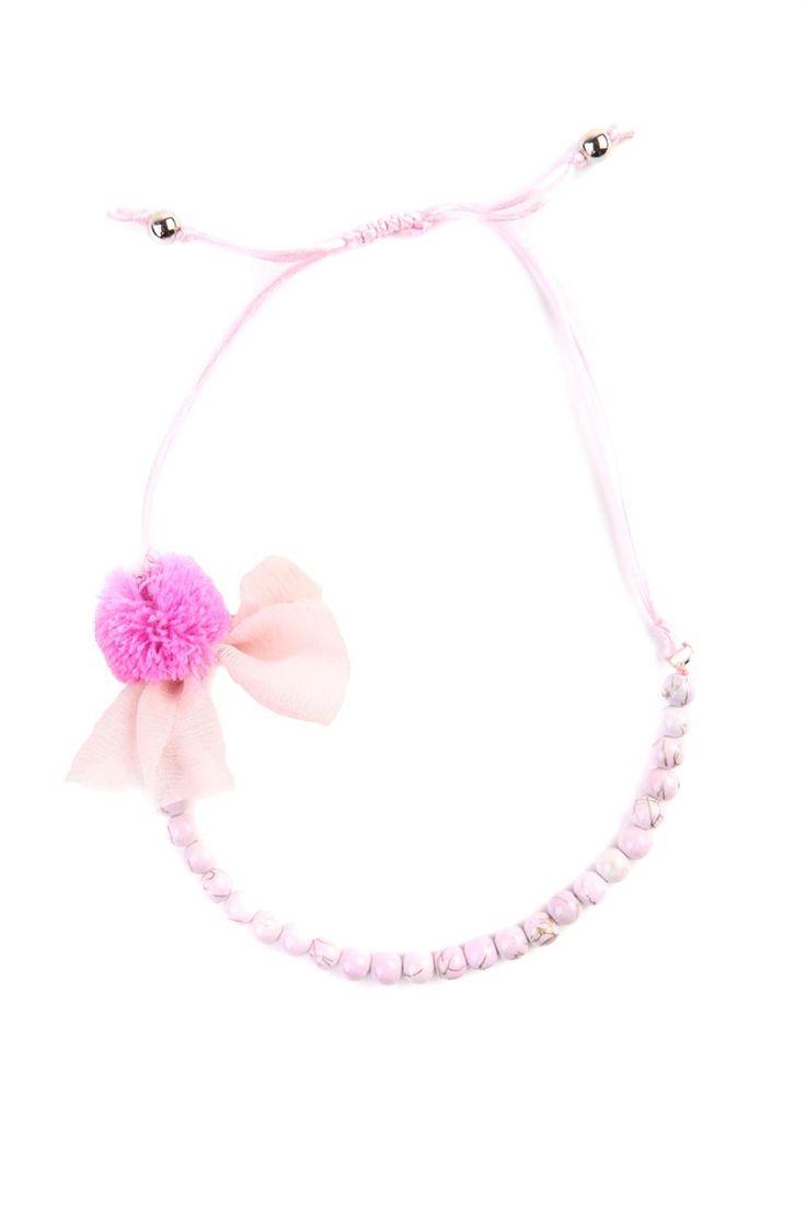 cotton on   lily pom pom necklace