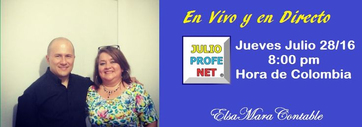 En breve iniciamos transmisión con nuestro querido profesor Julio Rios julioprofenet == Amigo y mentor de Esta servidora.  Los espero, trae tus preguntas para el profesor, quien nos acompañará toda la hora ... ahhh también pueden hacer preguntas a ElsaMara     https://www.youtube.com/watch?v=-kaCFdjOKWo