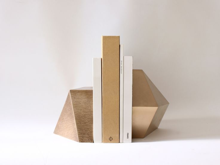 Satin or etched #bronze - Poly #Bookend I Egg Collective