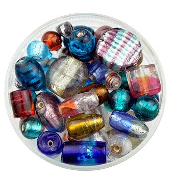 Silver lined glass bead mix   http://www.beadworks.co.uk/Catalogue/Mixed-Beads/Liver-Lined-Glass-Bead-Mix