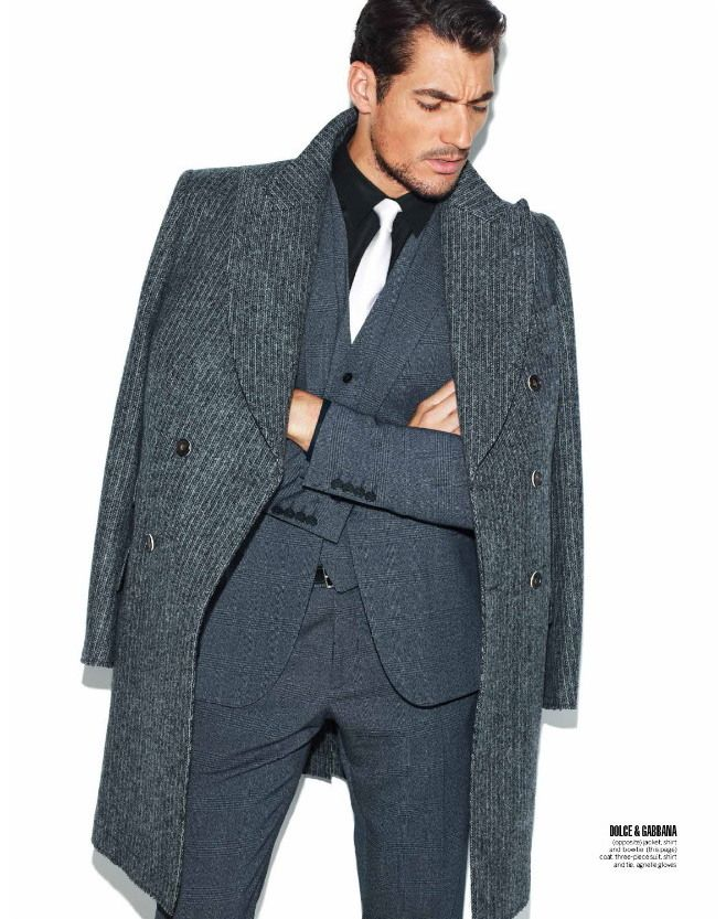 Over coat, 3-piece suit. Classic #menswear by Dolce & Gabbana