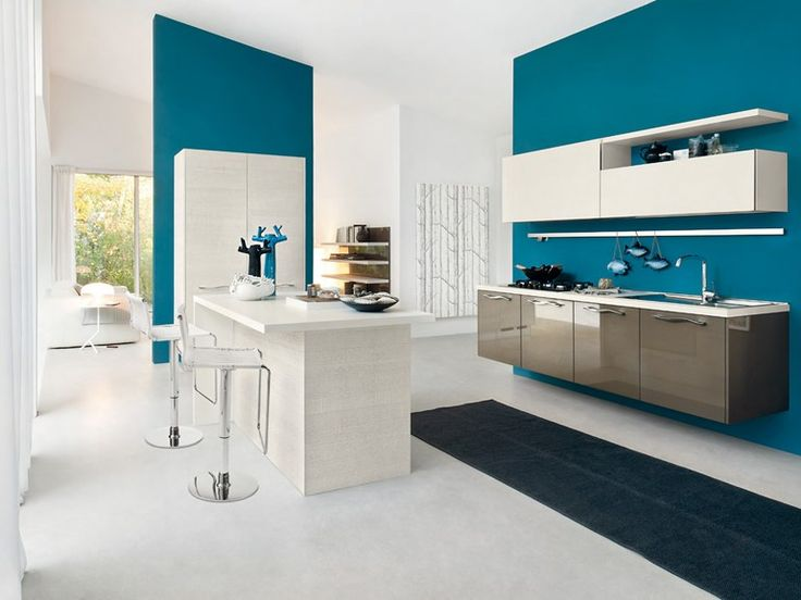 Lacquered wall-mounted fitted kitchen Pamela Collection by Cucine Lube