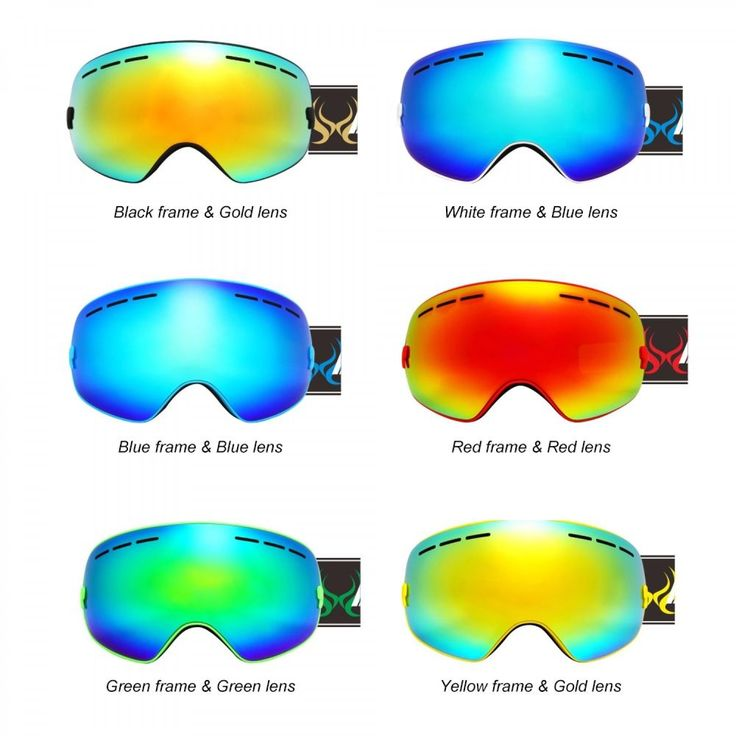 Skiing Googles Sunglasses Anti Fog Double Layers Mask Windproof Snowboard New #Unbranded