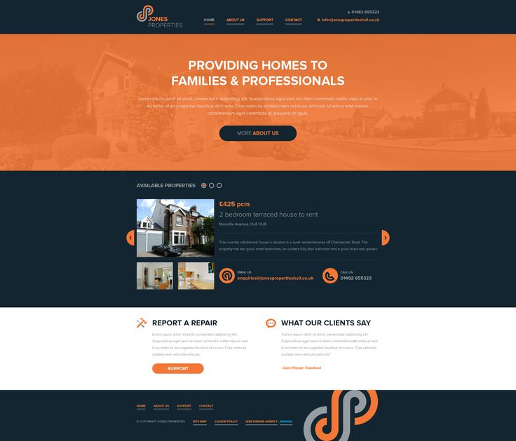 Jones Properties website by Jamie Hunter