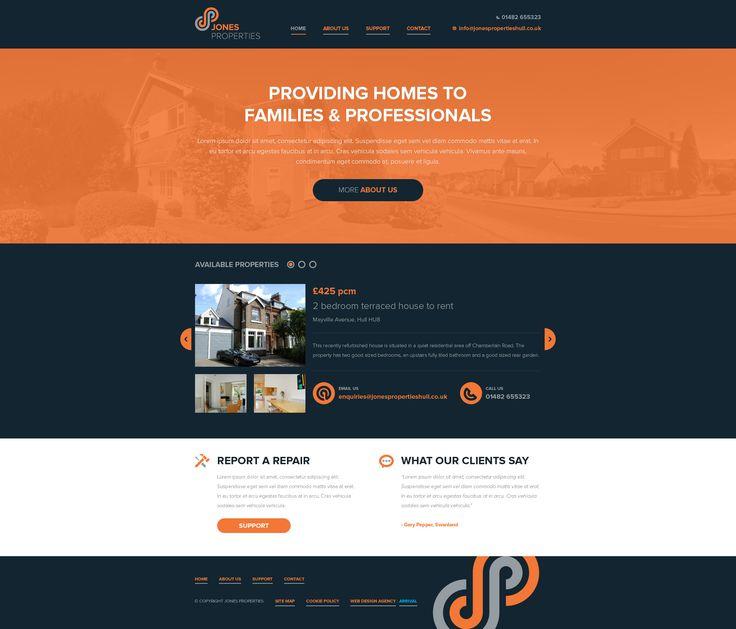 Jones Properties website by Jamie Hunter