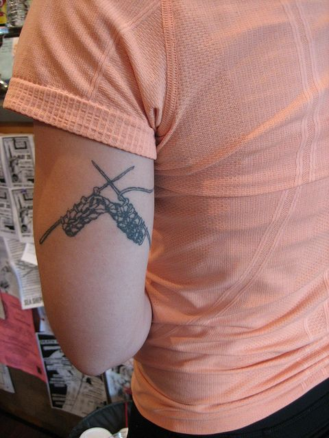 knitting tat, I love the placement on this one