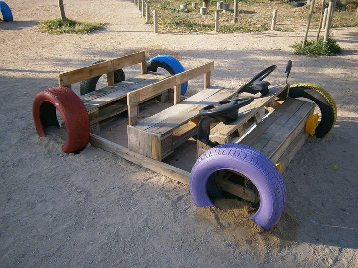 Cotxe fet de palets campic pinterest playground - Ideas con palets ...