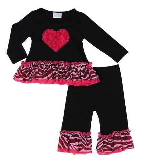 Black and Hot Pink Zebra Heart Swing Set is perfect for Valentine's Day!!