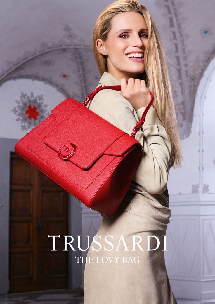 Structured yet pliable, tactile and refined. This is the new LOVY Bag featured in LOVY's campaign for Spring/Summer 2107 alongside Michelle Hunziker. Photo: Fabio Leidi #LOVYBag #LOVYLover #Trussardi