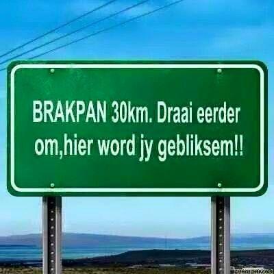 """awesome Brakpanners is my Tjommies Spietkop stop Brakpanner omdat sy kar net een hooflig aan het! Brakpanner: """"Tjomma, dis load shedding, ek sal later die anner een aansit, jy check?"""" https://www.sapromo.com/brakpanners-is-my-tjommies/9217"""