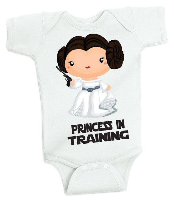 Princess in Training Baby Girl Princess Leia Baby by retrostate