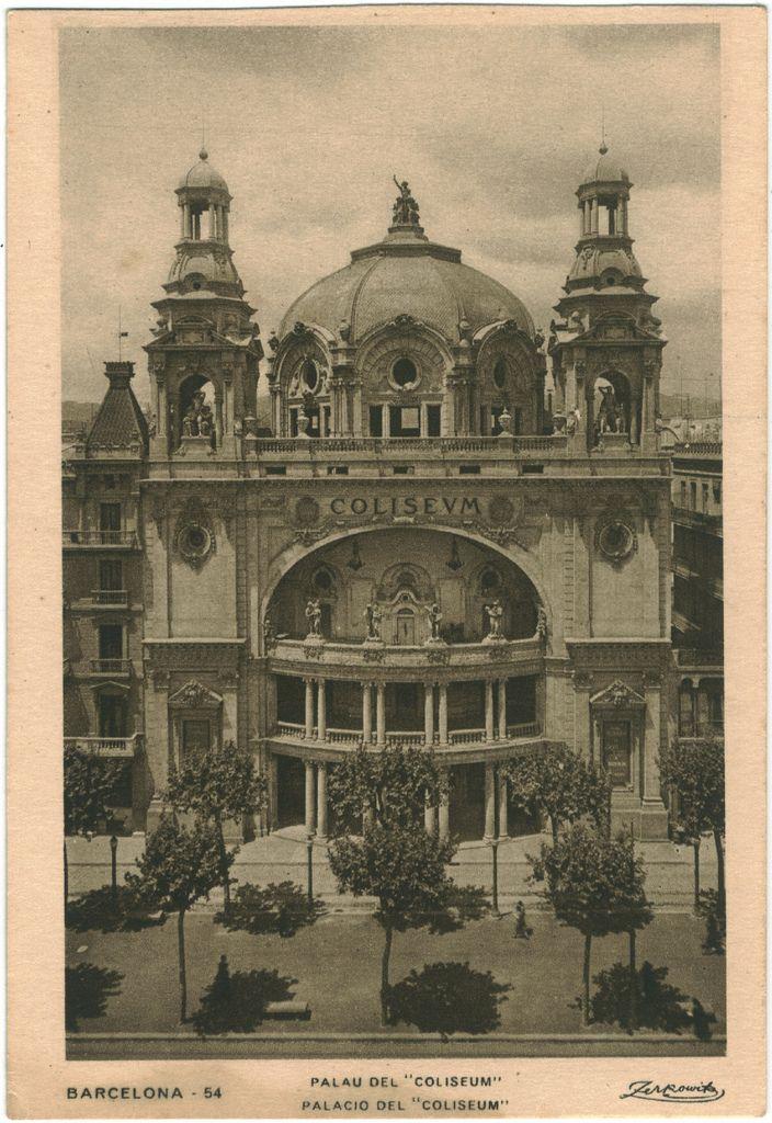 Teatre Coliseum. Barcelona.