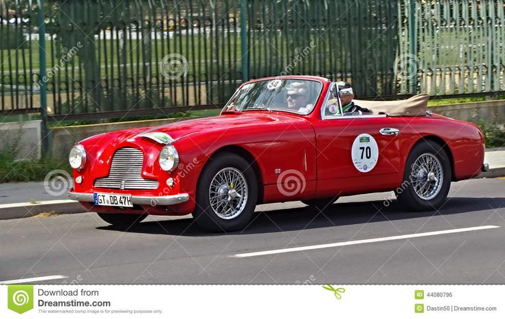 View of the antique car in the auto racing  Sachsen Classic 2014. August 22, 2014