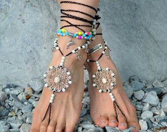 barefoot sandals Barefoot Beach Jewelry Barefoot shoes, Beach Jewelry Hippie Foot Jewelry, festival accessories, yoga toe, garden