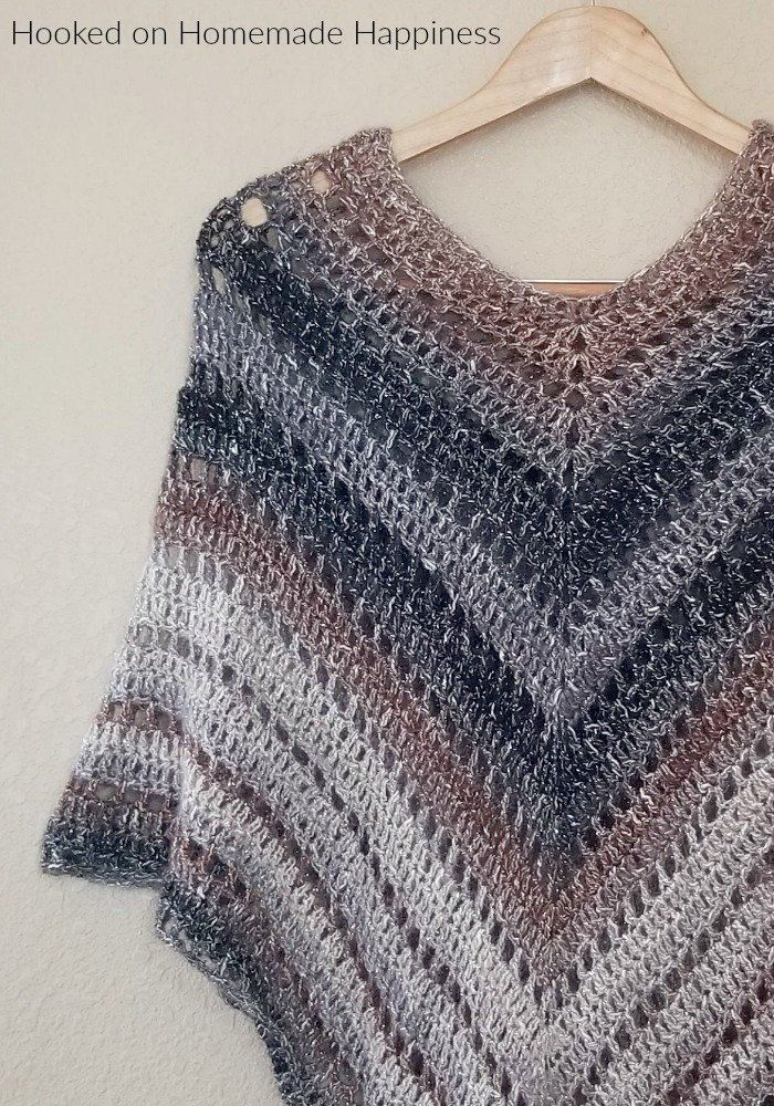 Crochet Poncho Pattern Easy Crochet Pattern Beginner Crochet