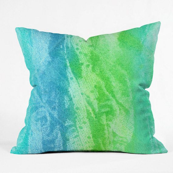 Decorative Pillows For College : Caribbean Sea Throw Pillow - college dorm decorating College Dorm Room Essentials To Add To ...