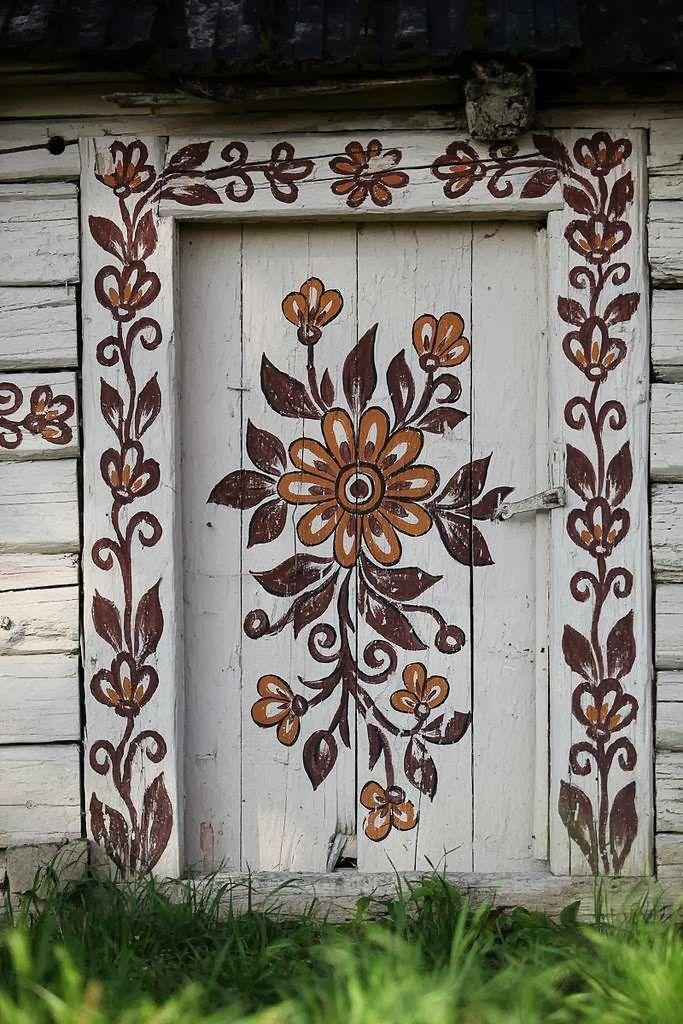 Zalipie, satul unde toate casele sunt pictate cu motive florale