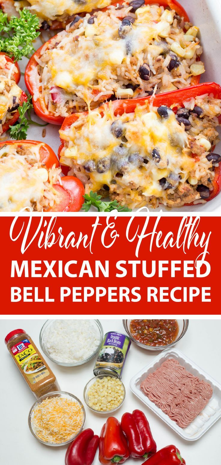 Mexican Stuffed Bell Peppers Recipe In 2020 Stuffed Peppers Recipes Peppers Recipes