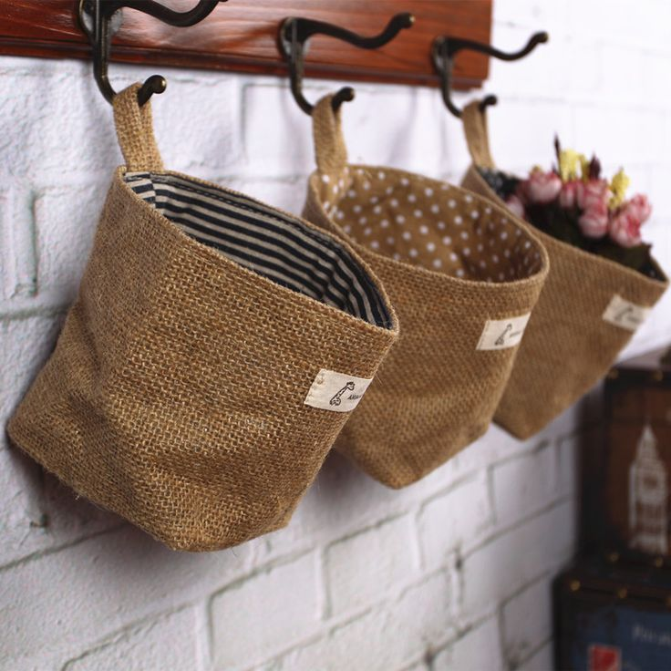 Find More Information about double faced environmentally friendly jute fabrics wall hanging bags desktop storage small baskets,High Quality bag drive,China basket woven Suppliers, Cheap basket strainer from Sweet home beautiful lifestyle on Aliexpress.com