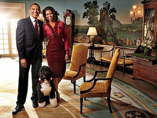 Fabulous.: Presidents Obama, Android, Bo Obama, Michele Obama, Pencil Skirts, Portraits, Obama Families, First Lady, White House