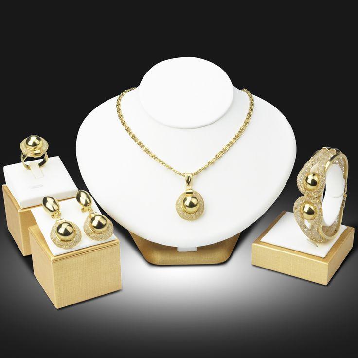 Dubai Luxury Gold Plated Jewelry Sets Nigerian Wedding African Beads Crystal Bridal Jewellery Set Rhinestone Ethiopian Jewelry